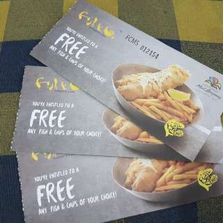 voucher free fish & chips fish & co