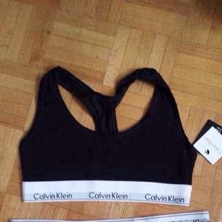 CK Logo Black Bralette