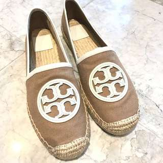 Tory Burch 白色logo 草鞋