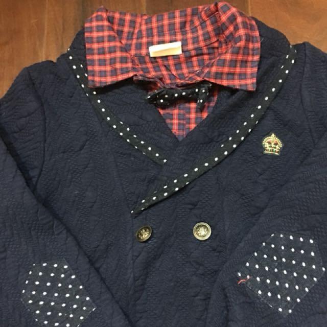 男童韓版110cm厚棉上衣