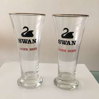 Vintage collectible Swan Beer Glass