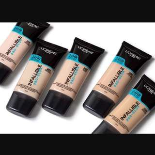Loreal Infallible 24hr Foundation Pro Glow