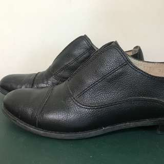 all black黑色牛津鞋