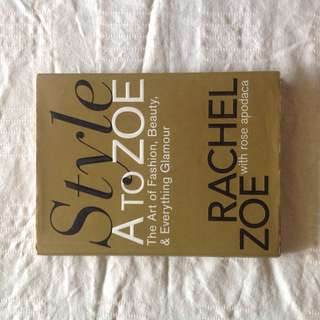 Rachel Zoe Fashion Book