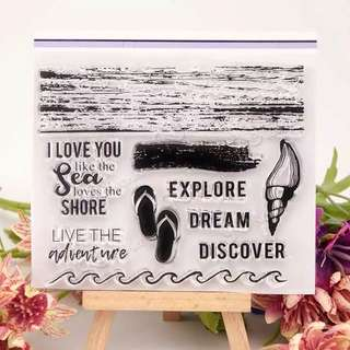 Sea Shore Clear Planner Stamp
