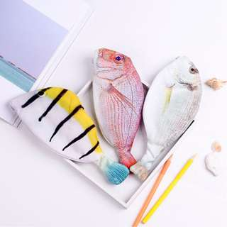 [FREE DELIVERY] Creative Fish Shape Pencil Case School Supplies Stationery Box Gift