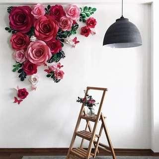 [Sellabrations] 3D Paper Flower Giant Paper Flower Backdrop DIY