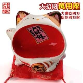 金石工坊 big mouth cat phone/namecard holder