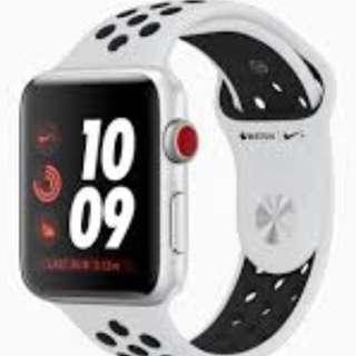 《徽收買》Apple Watch 38mm 白黑Nike 錶帶