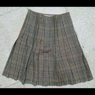 plaid Brown A line skirt