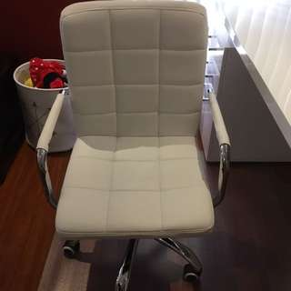 White Desk Chair, office chair.