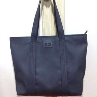 ORIG Preloved LACOSTE Women's Shoulder Tote Bag (blue)
