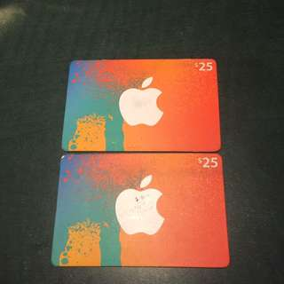 $50 Apple gift card
