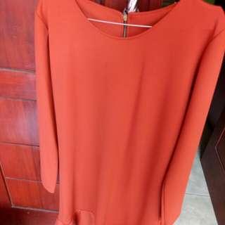 dress orange size m