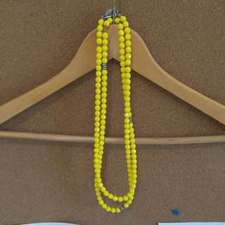 Mimco Yellow Long Necklace
