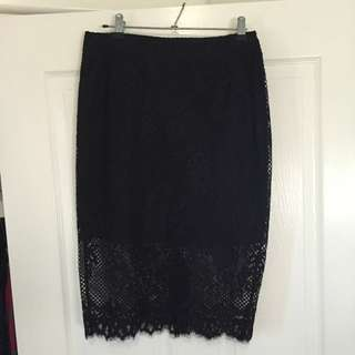 Witchery Lace Pencil Skirt