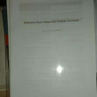 Extensive Exam Notes And Chapter Summary