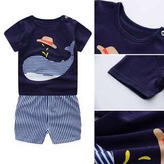 Cotton Shirt and Shorts Terno