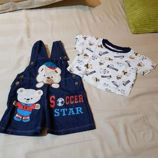 Overall Set Baby Bear
