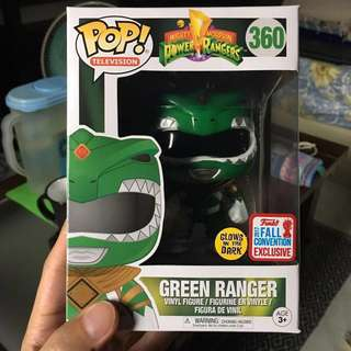 Funko Pop Power Rangers Green Ranger Glow in the Dark NYCC/FCE