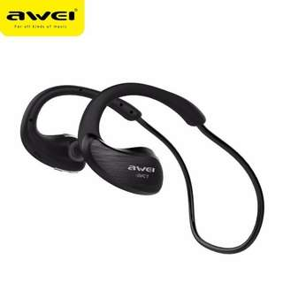 Bluetooth Wireless Sports Headphone by AWEI  - Black Colour