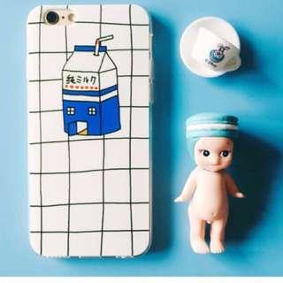 milk carton grid phone case
