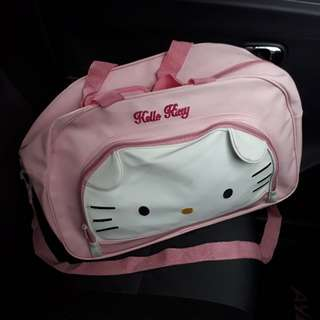preloved travel bag hello kitty muraaahhh