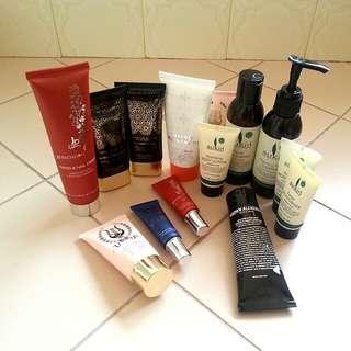 Heaps of skin/hand care creams