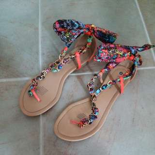 Emerson tied sandals