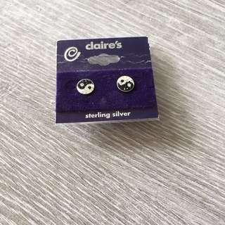 閃 太極 耳環