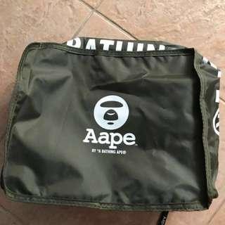 Ape Bathing 旅行收納袋(一套3個)墨綠色