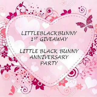 [GIVEAWAY] Happy Anniversary Little Black Bunny