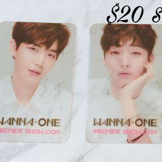 Free Shipping 4 photo cards WANNA one