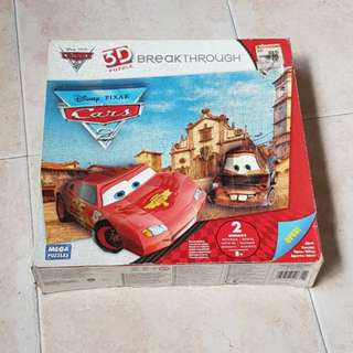 Disney Cars 3D Puzzle (Brand New)