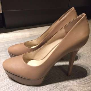 Nine West taupe/nude pumps, brand new