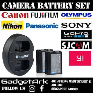 Kingma & Smatree Battery Set for DSLR Camera and Action Camera