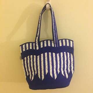 Blue White Stripes Handbag