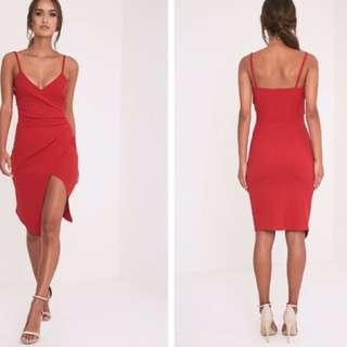 SIZE 16 PLT RED DRESS