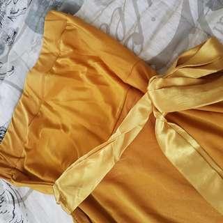 Gold Tube Dress