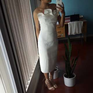 HIRE! BETWEEN FRIENDS white midi dress | Keepsake