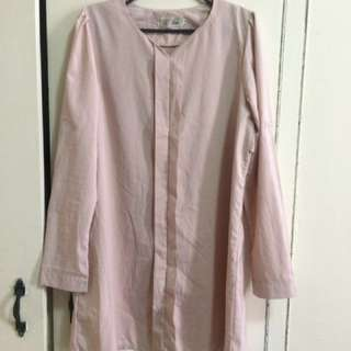 Repriced! Cute Formal Long Blouse pink pastel