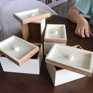 IKEA Bamboo Storage boxes
