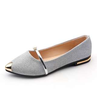 Pearl Silver Doll Shoes