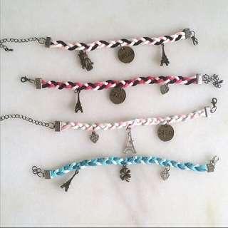 Suede army candy bracelets
