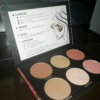 Detail make over contour and blush palette