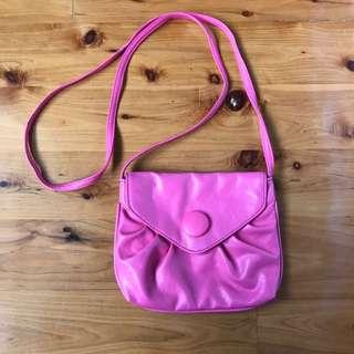 Hot pink across body sling bag