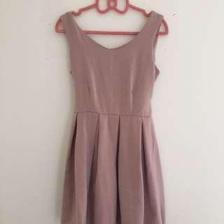 Pink cute mini dress