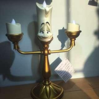 ((現貨))(不附盒)迪士尼 Disney 美女與野獸 beauty And The Beast 盧米亞 燭台