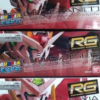 RG Clear Exia, 00 Raiser, Qanta Gundam Expo