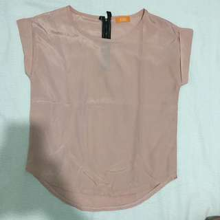 Fab Salmon Pink Shiny Blouse